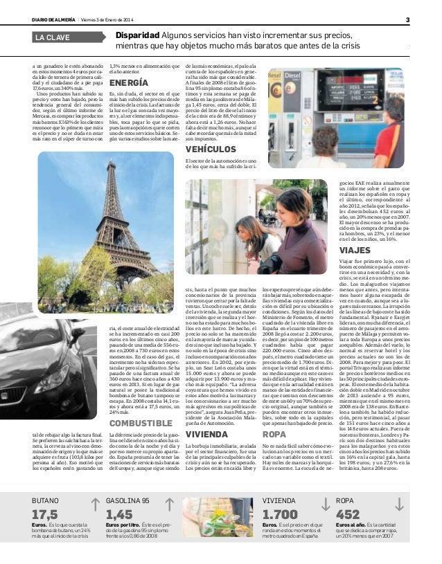 Las dos caras de la crisis paera el bolsillo (Diario de Almeria)