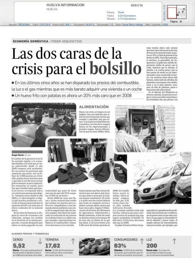 Las dos caras de la crisis paera el bolsillo (Huelva información)