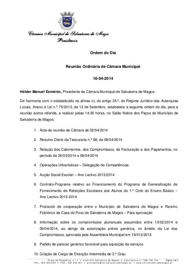 Câmara MunicipalCâmara MunicipalCâmara MunicipalCâmara Municipal de Salvaterra de Magosde Salvaterra de Magosde Salvaterra...