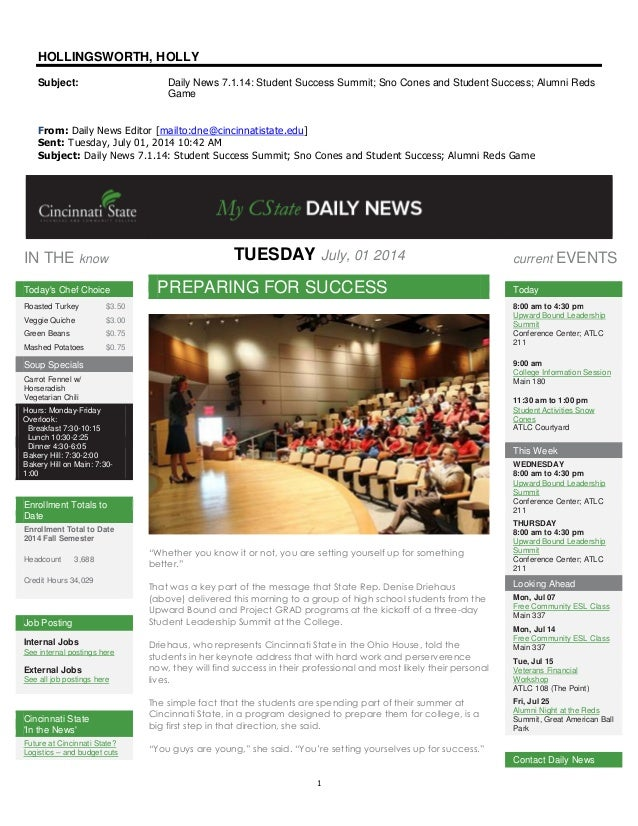 14.7.1 cincinnati state daily news   student leadership summit