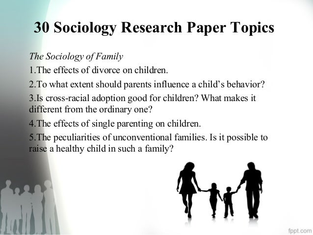 Sociology ideas for research papers
