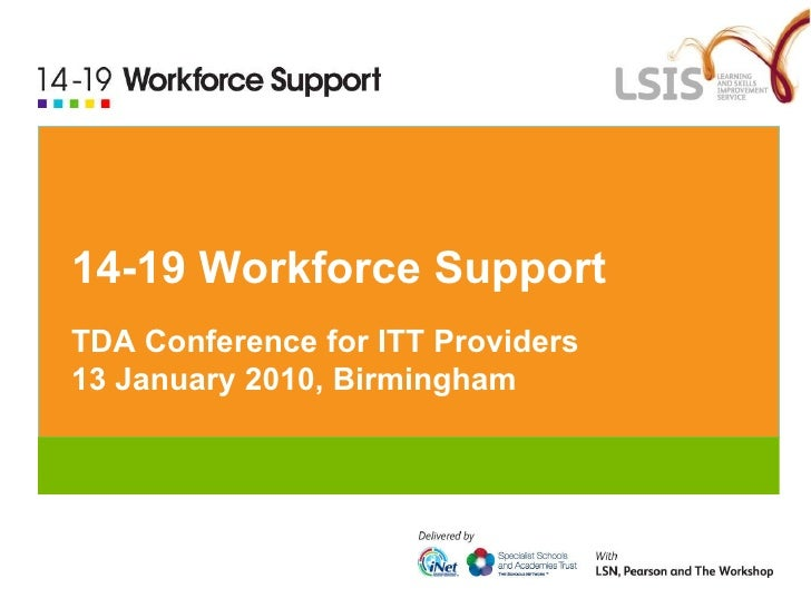 14-19 Workforce Support: TDA Conference for ITT Providers