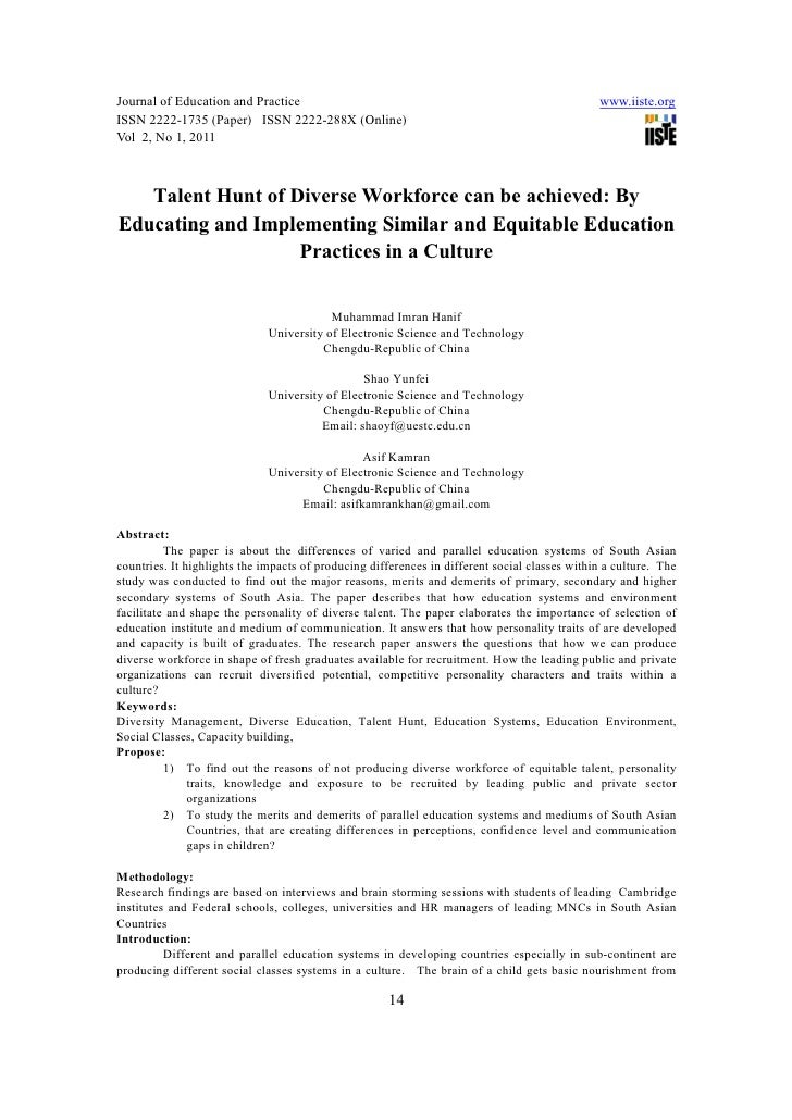 [14 21]talent hunt of diverse workforce can be achieved