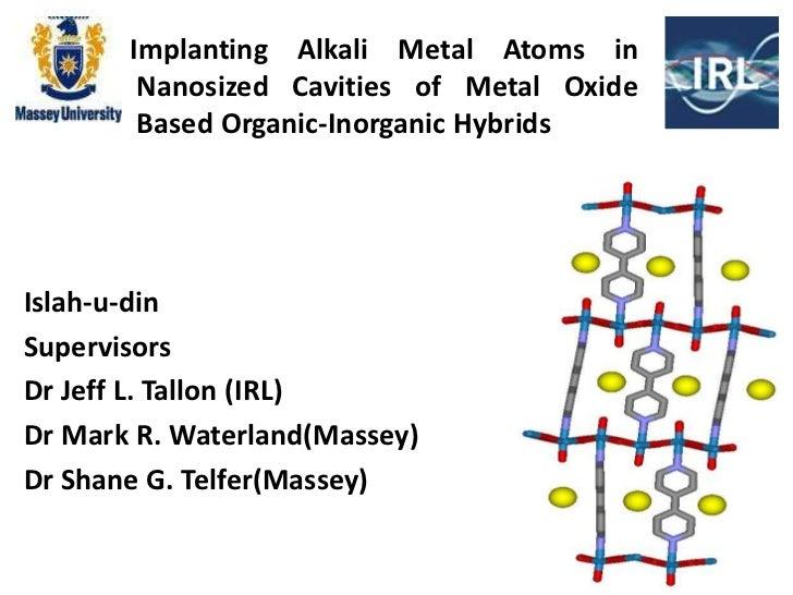 Implanting Alkali Metal Atoms in        Nanosized Cavities of Metal Oxide        Based Organic-Inorganic HybridsIslah-u-di...