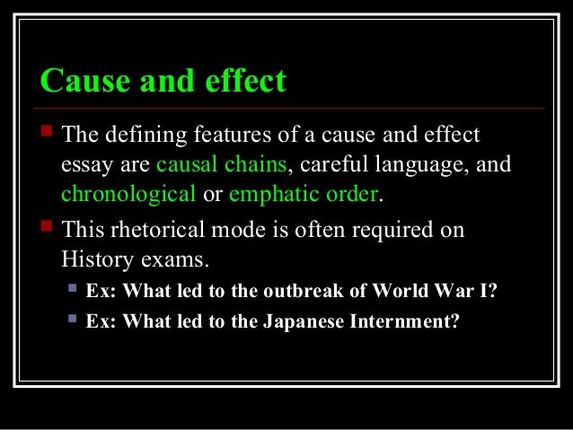 historical chain of cause and effect essay