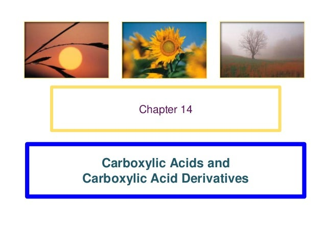 Chapter 14   Carboxylic Acids andCarboxylic Acid Derivatives