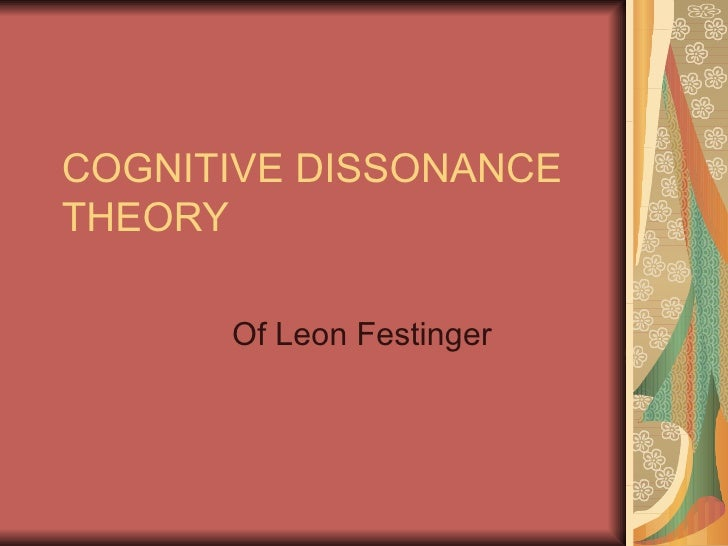 the role of cognitive dissonance in As the self-standards model of cognitive dissonance1 the self-standards model (ssm) maintains that the role of self-relevant thought described by the various perspec-.