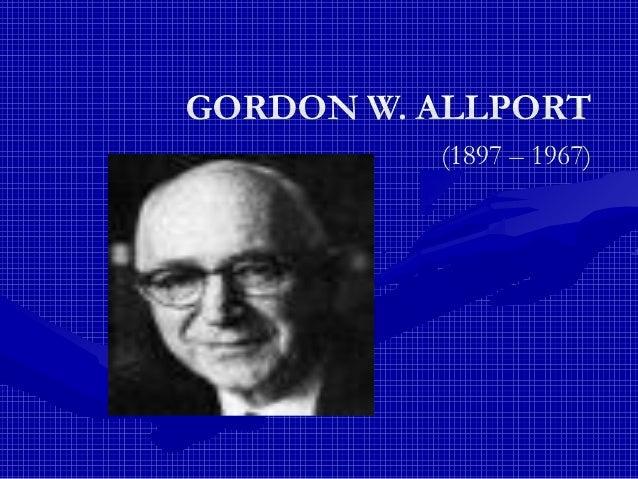 gordon allport essay