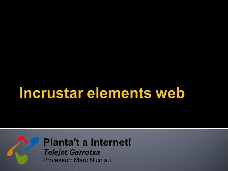 14. Incrustar Elements Web