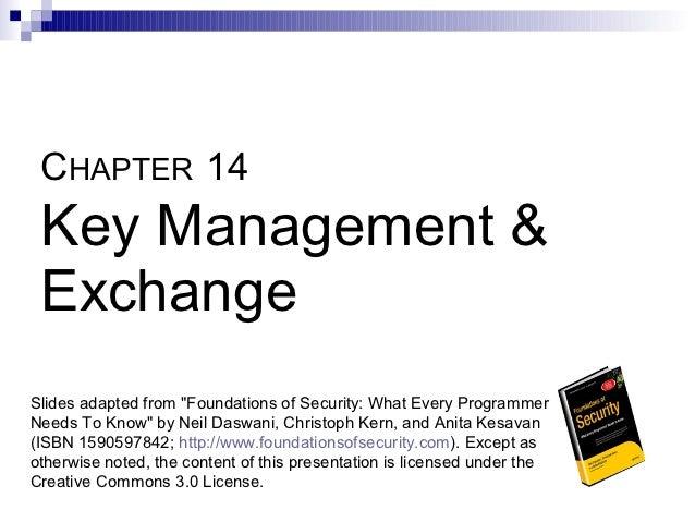 14   key management & exchange