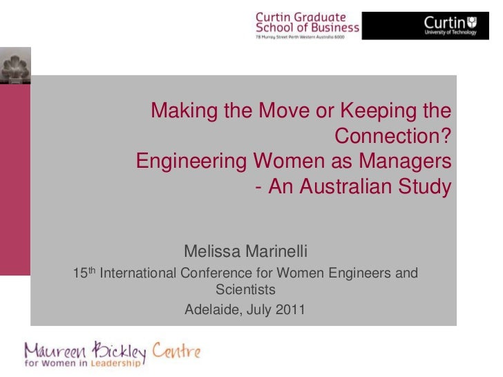 Making the Move or Keeping the                             Connection?         Engineering Women as Managers              ...