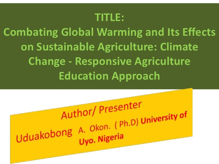 global warming thesis paper