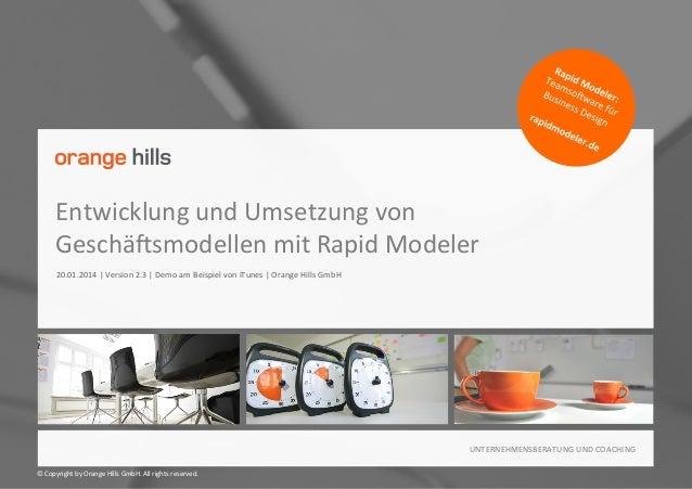 Entwicklung und Umsetzung von Geschäftsmodellen mit Rapid Modeler