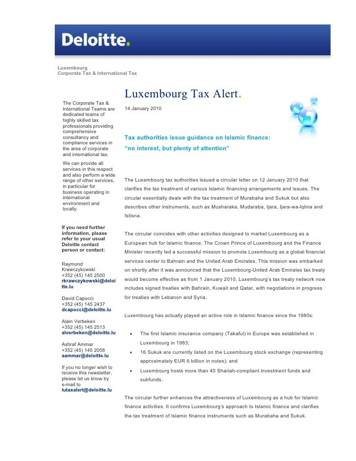 Luxembourg Corporate Tax & International Tax                                 Luxembourg Tax Alert.   The Corporate Tax &  ...