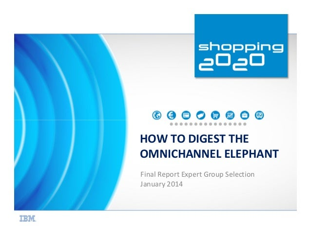 HOW TO DIGEST THE OMNICHANNEL ELEPHANT Final Report Expert Group Selection January 2014