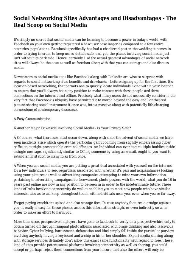 Advantages Of Social Media For Students Essay - image 4