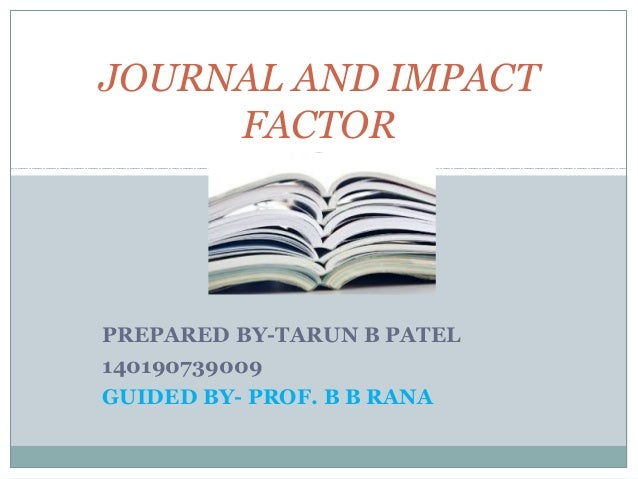 how to find impact factor of a journal