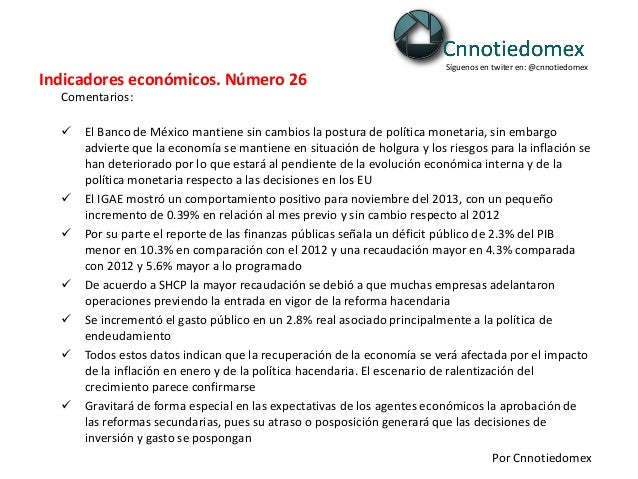 140204 indicadores económicos. número 26. 04 02-2014