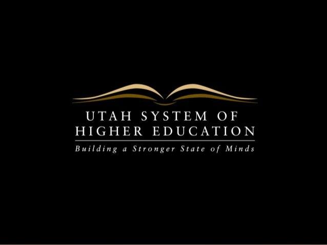 2014-15 USHE Budget Priorities
