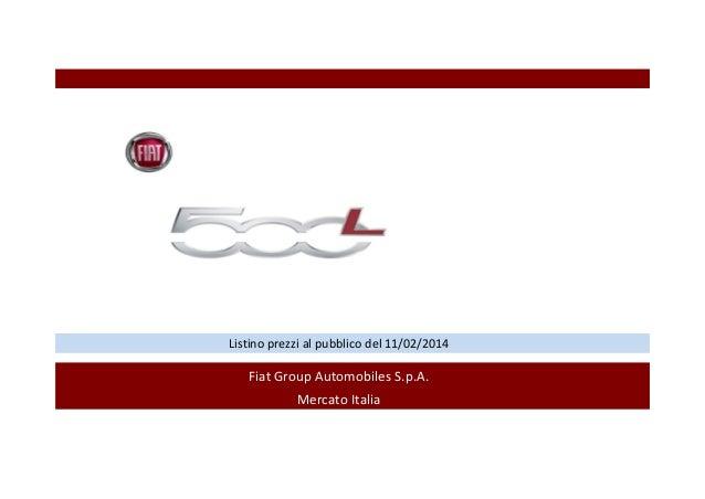 Fiat 500L: listino prezzi