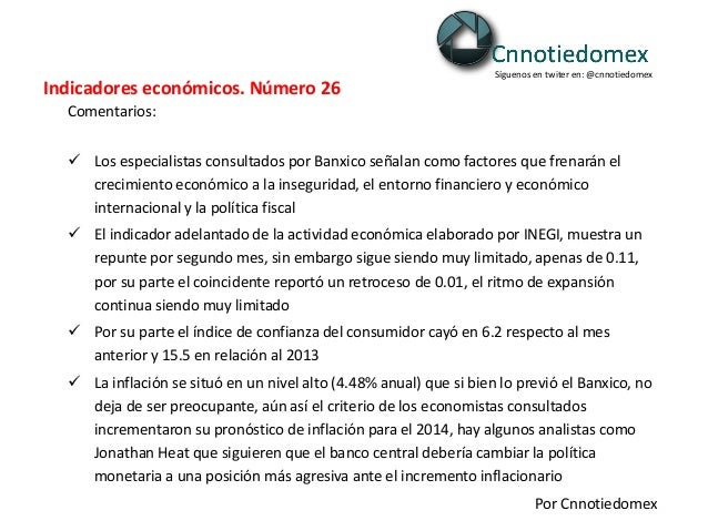 140211 indicadores económicos. número 27. 11 02-2014