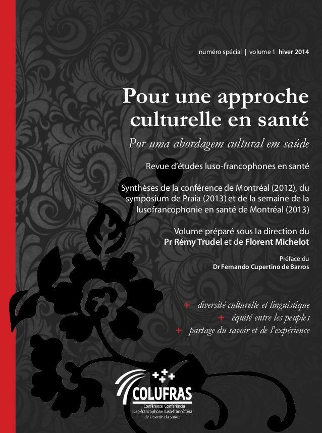 « Pour une approche culturelle en santé », revue d'études luso-francophones en santé, volume 1