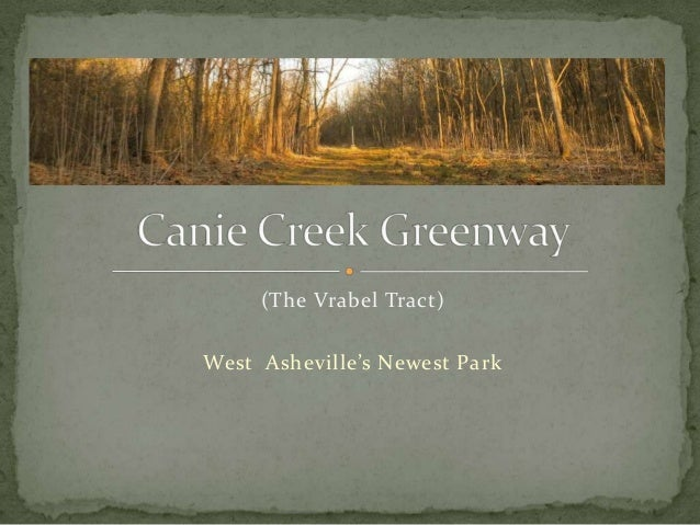 (The Vrabel Tract)  West Asheville's Newest Park