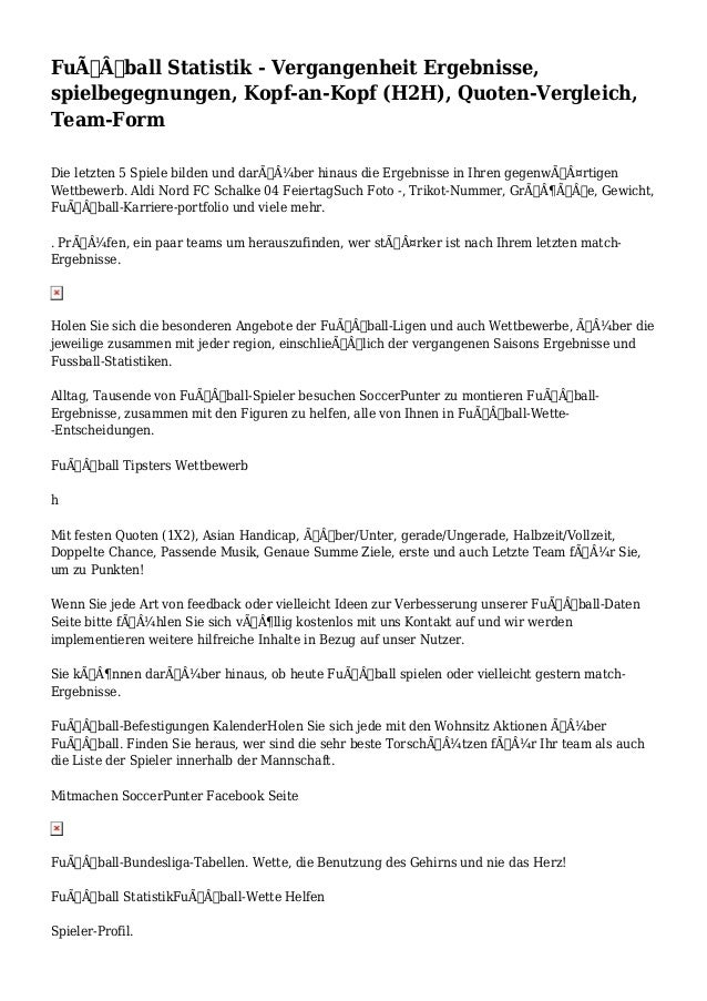 Fußball Statistik - Vergangenheit Ergebnisse, spielbegegnungen, Kopf-an-Kopf (H2H), Quoten-Vergleich, Team-Form Die let...