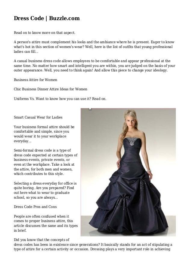 Dress Code | Buzzle.com