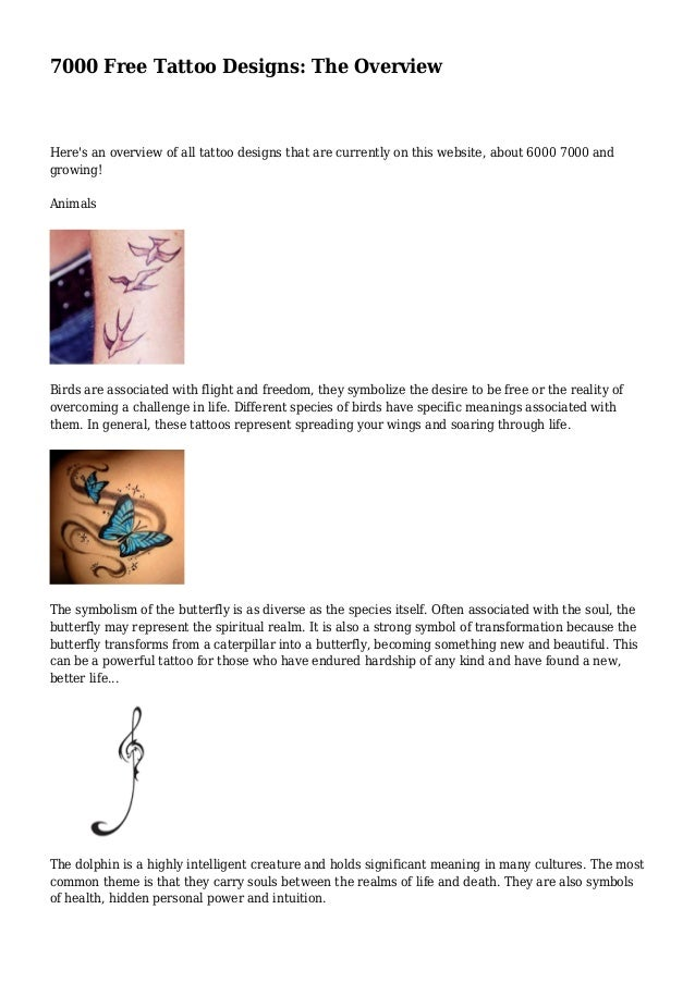 7000 Free Tattoo Designs: The Overview