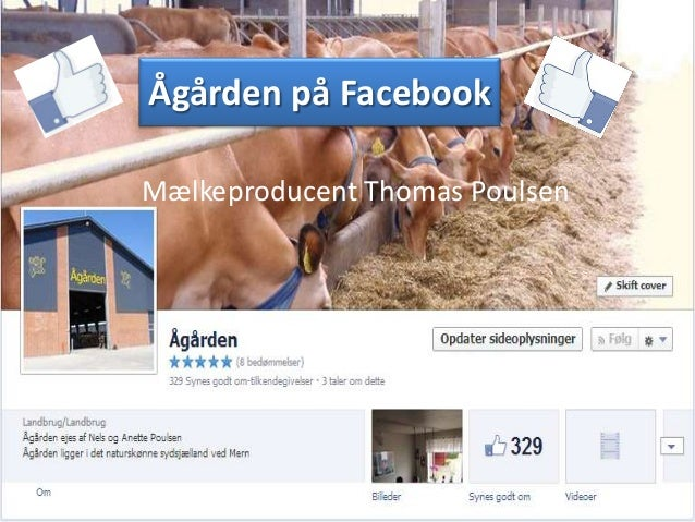 Ågården på Facebook Mælkeproducent Thomas Poulsen