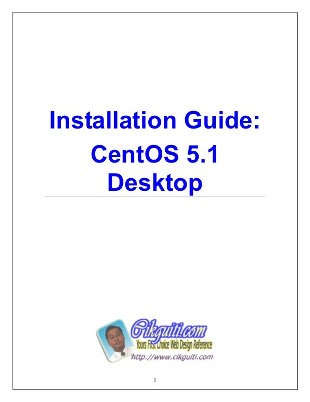 14038356 installation-guide-of-centos-5