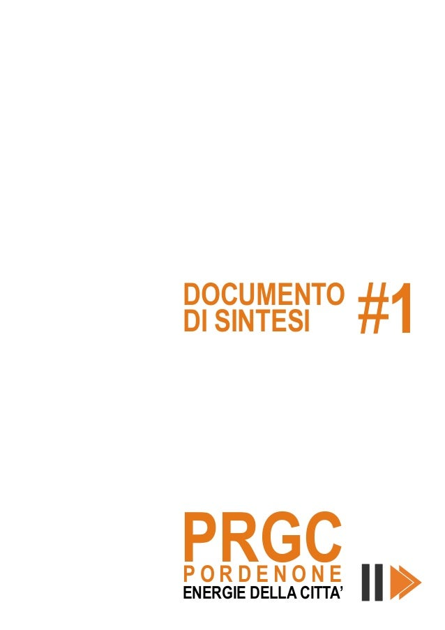 PRGC Pordenone, documento di sintesi