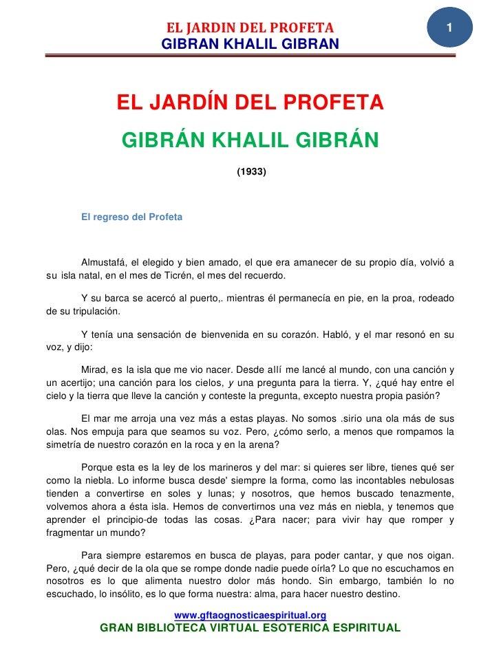 EL JARDIN DEL PROFETA                                            1                          GIBRAN KHALIL GIBRAN          ...