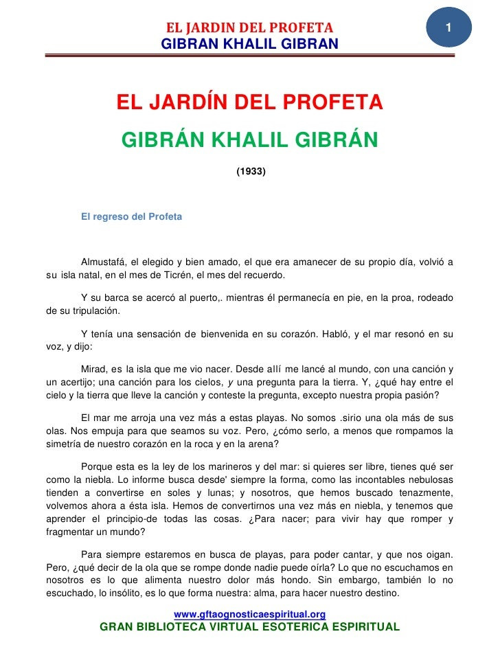 14 03 gibran khalil gibran el jard n del profeta www