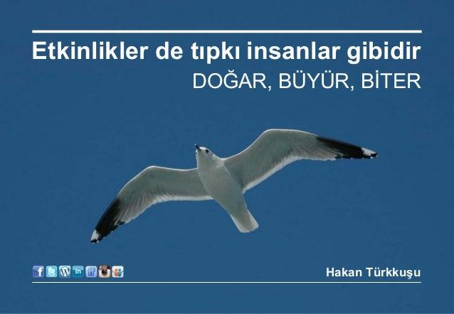 17 Nisan 2014 © Hakan Türkkuşu Etkinlikler de tıpkı insanlar gibidir DOĞAR, BÜYÜR, BİTER