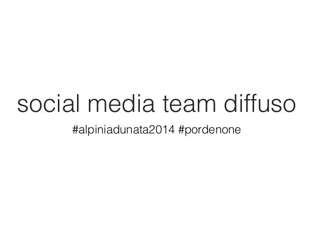 Social media team diffuso #Pordenone