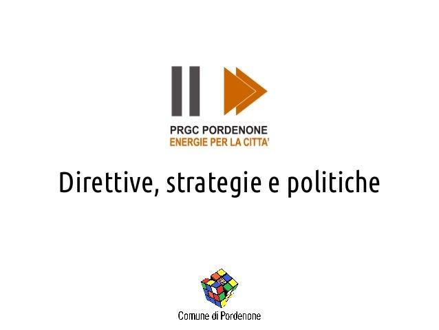Direttive, strategie e politiche