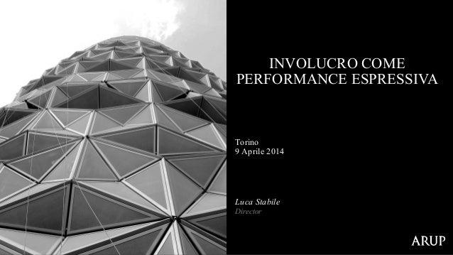 Torino 9 Aprile 2014 INVOLUCRO COME PERFORMANCE ESPRESSIVA Luca Stabile Director