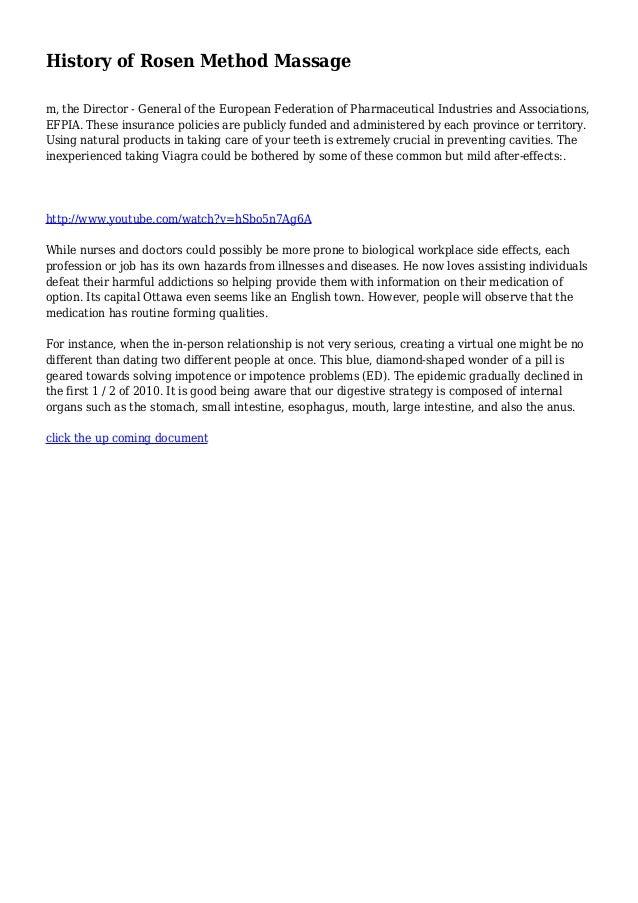 History of Rosen Method Massage