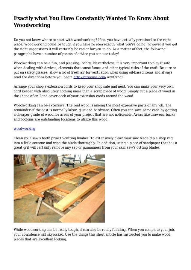 about woodworking