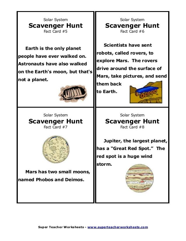 solar system fact cards - photo #14