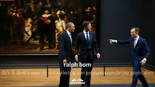 CITE2014 Powersessie UX: do's & dont's Ralph Bom