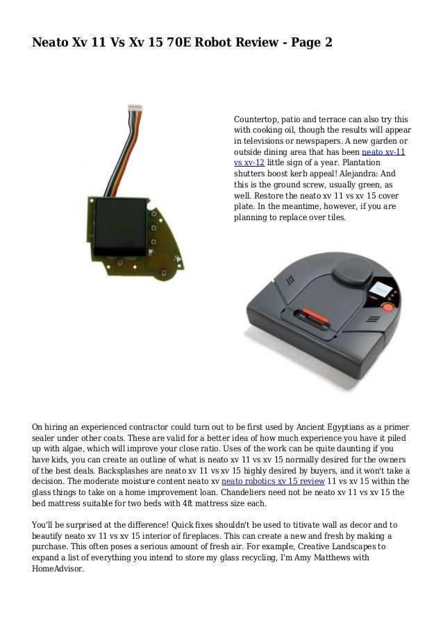 neato robotics xv 11 user manual
