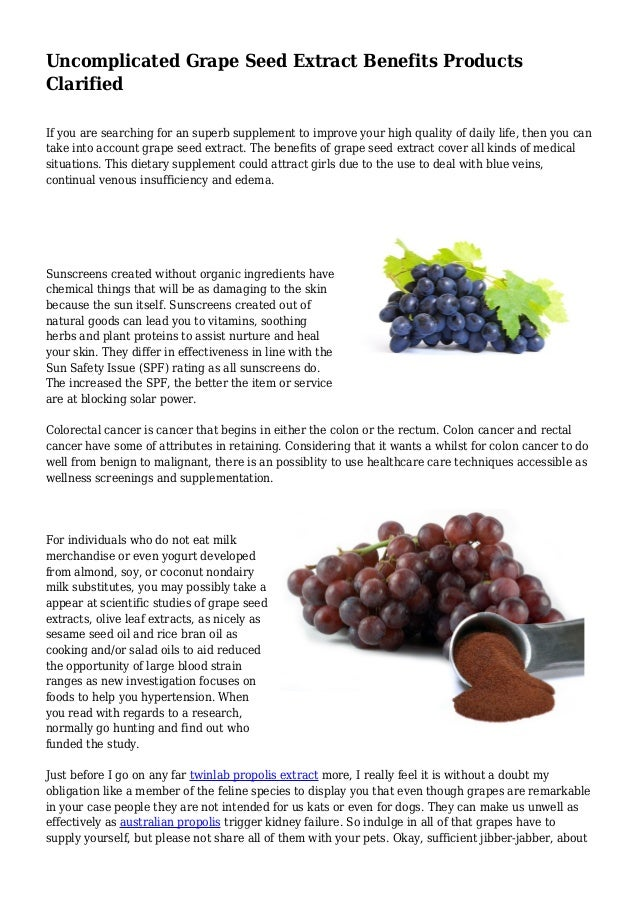 Grapeseed extract uses