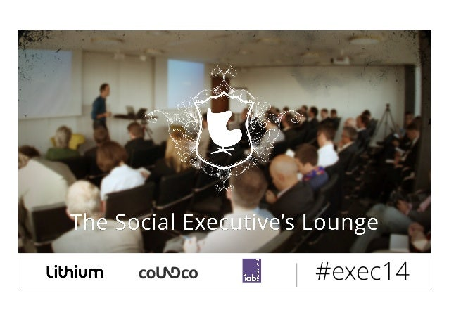 Social Business Studie @ Social Executive's Lounge 2014 by coUNDco