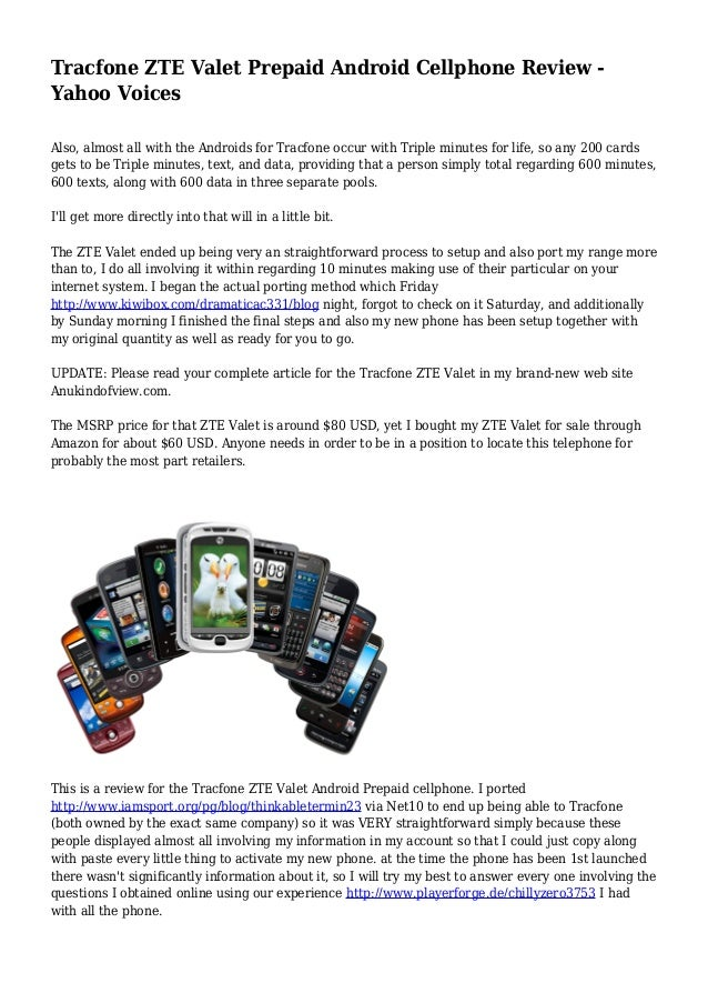 Tracfone ZTE Valet Prepaid Android Cellphone Review - Yahoo Voices