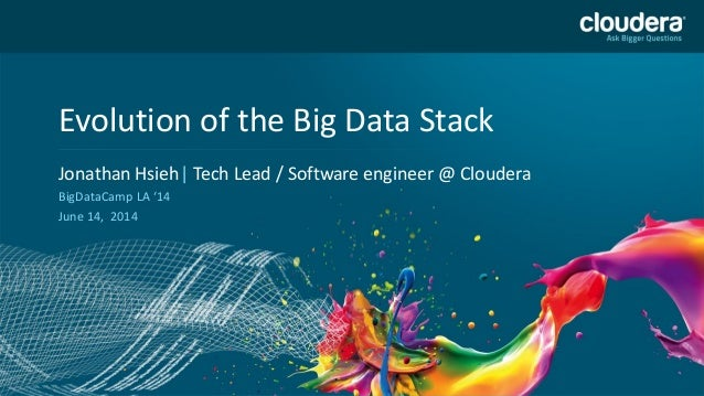 Headline Goes Here Speaker Name or Subhead Goes Here DO NOT USE PUBLICLY PRIOR TO 10/23/12 Evolution of the Big Data Stack...