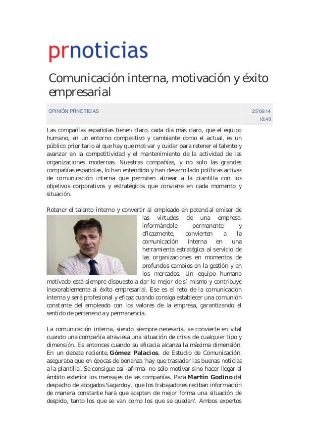 Comunicación interna, motivación y éxito empresarial