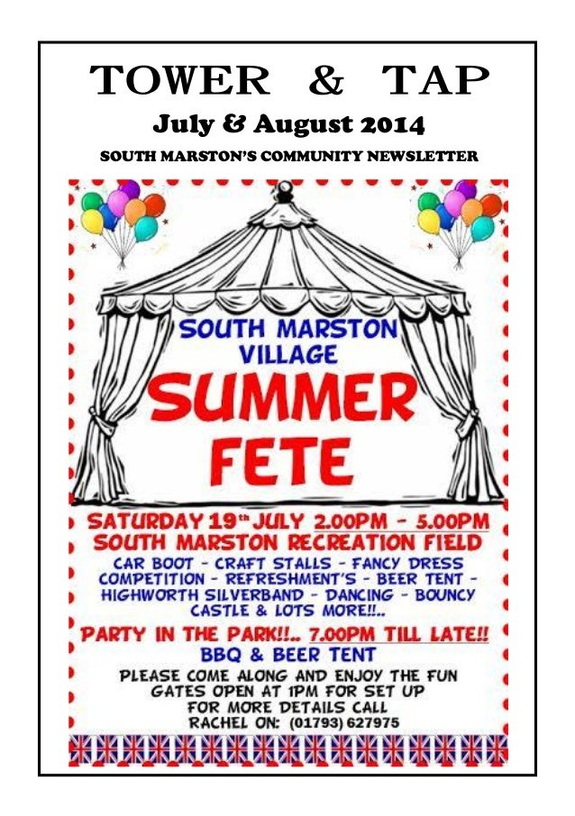 towerandtap@southmarston.org.uk July & August 2014 SOUTH MARSTON'S COMMUNITY NEWSLETTER